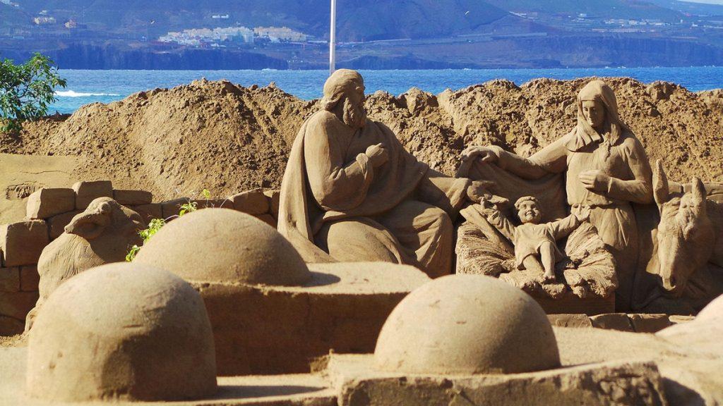 Pieskový Betlehem, Gran Canariia, pláž Las Canteras