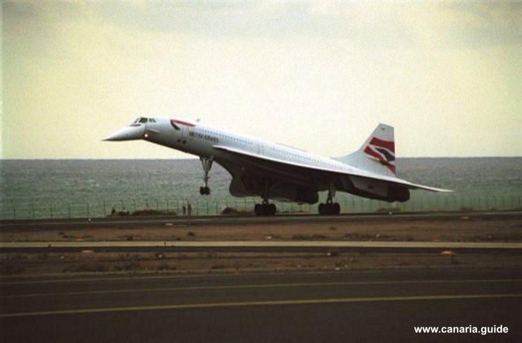 Lanzarote, Concorde na letisku Arrecife