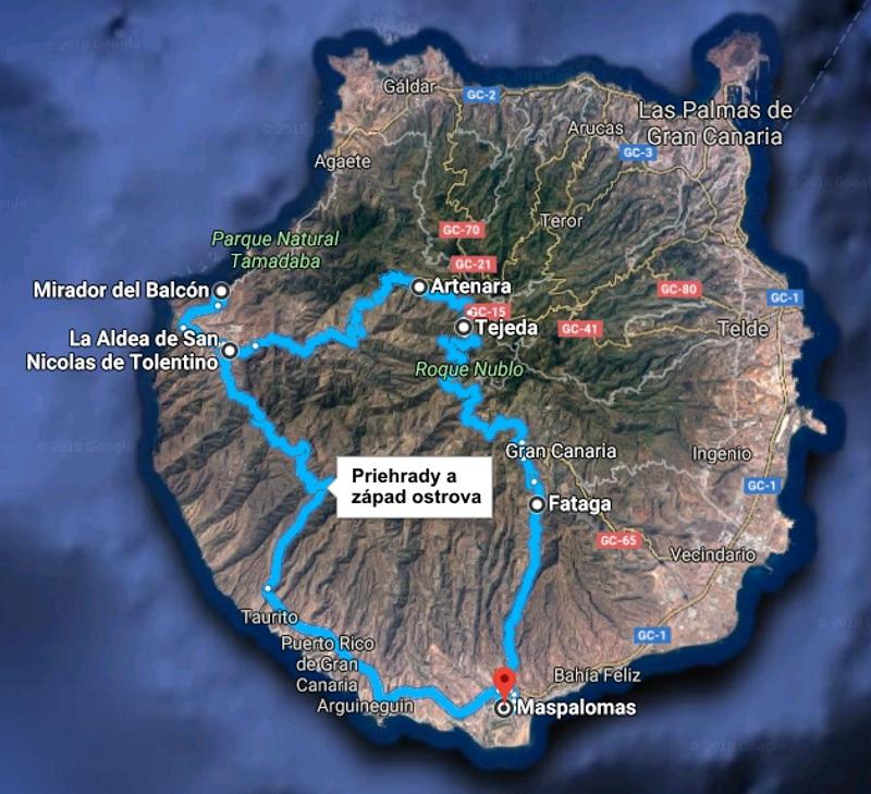Výlet priehrady a západ ostrova