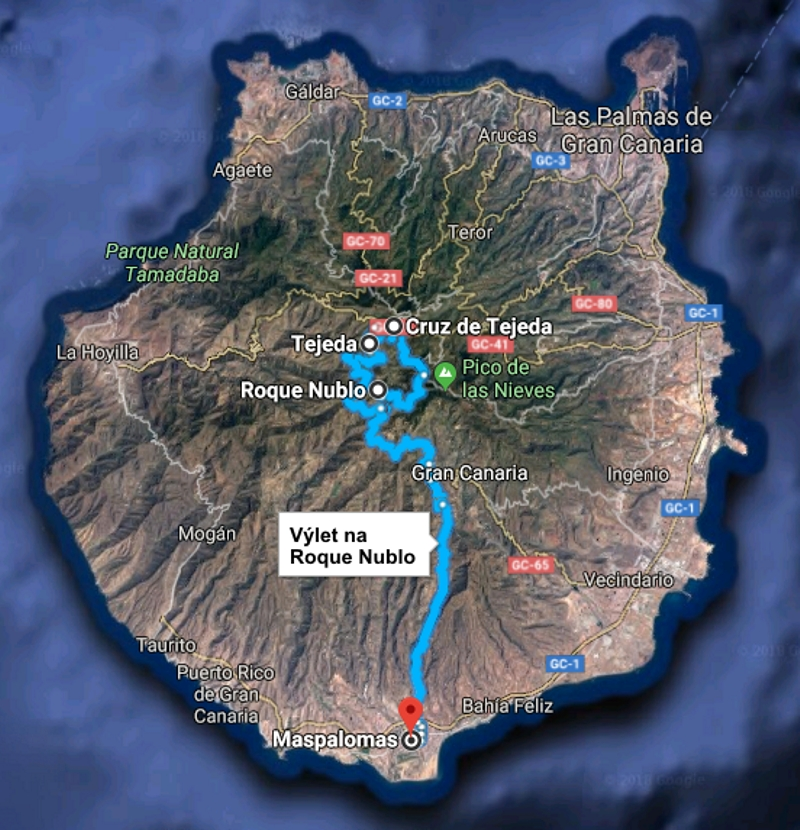 Výlet na Roque Nublo