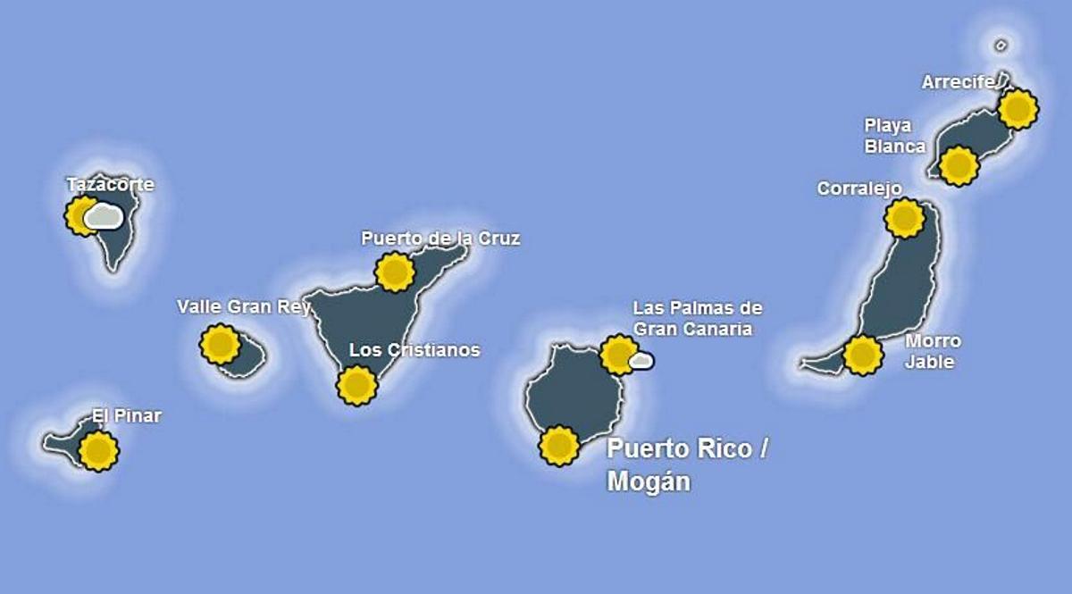 Aktuálne počasie na Kanárskych ostrovoch