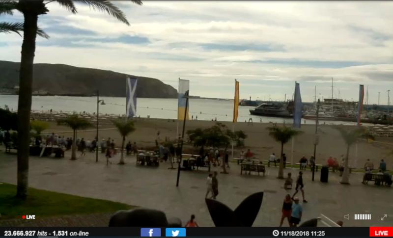 Web cam Tenerife Playa Los Cristianos