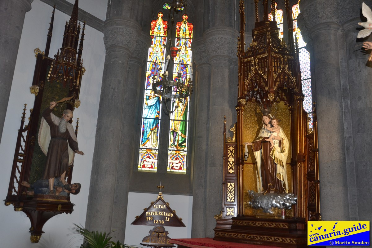 Arucas, Iglesia de San Juan Bautista - Capilla de la Virgen del Carmen