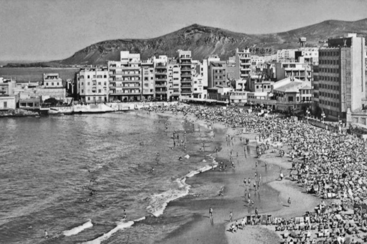 Las Palmas de Gran Canaria,Pláž Las Canteras, 1966