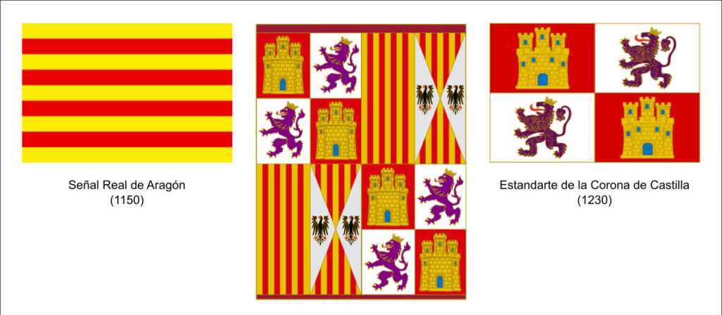 Banderas de España y Canarias