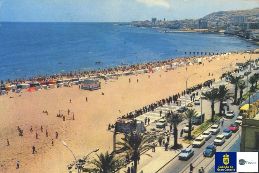Playa las Alcaravaneras, 1965
