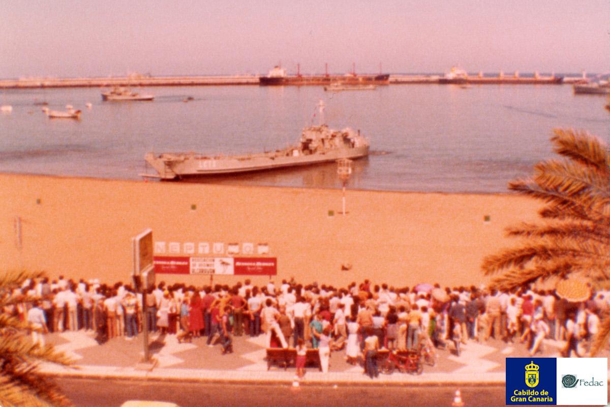 Playa las Alcaravaneras, 1975