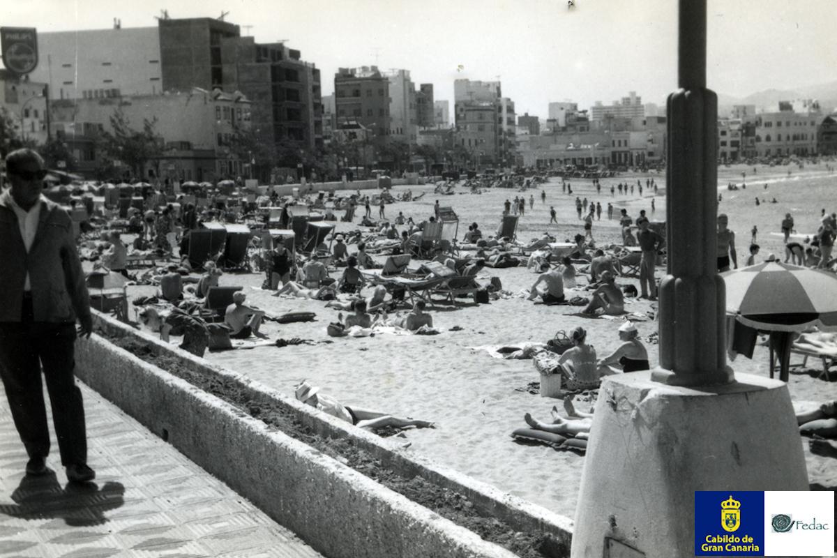 Playa Las Canteras, 1965