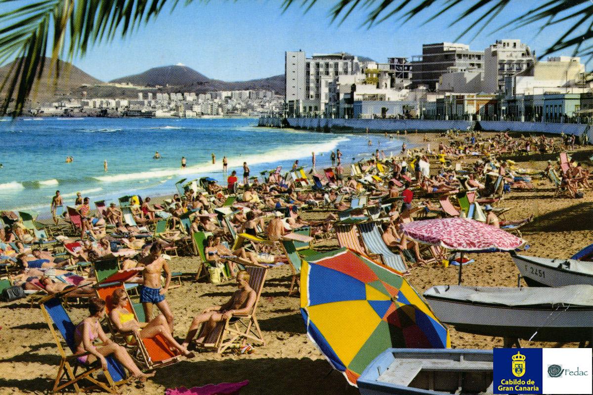 Playa Las Canteras, 1970