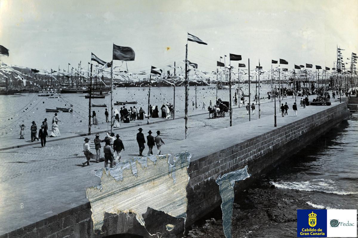 Muelle Santa Catalina, 1906