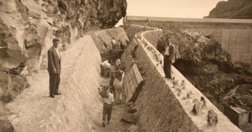 Výstavba preihrady na ostrove La Gomera